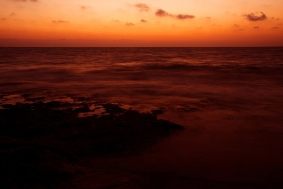 orange sea sunset