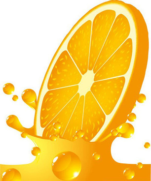 orange splash design vector