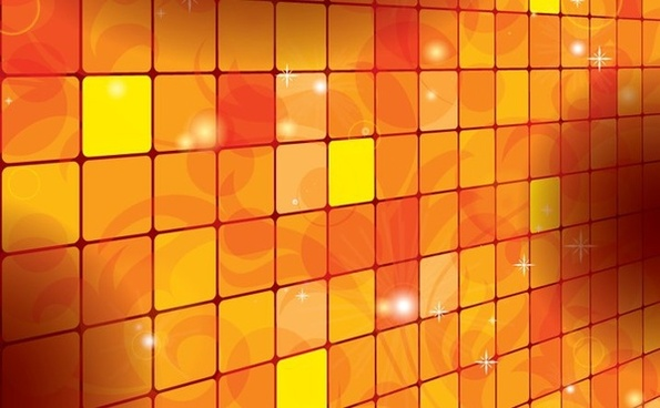 orange squares background sparkling vignette decoration