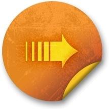 Orange sticker badges 018
