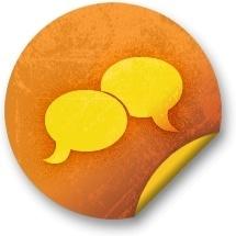 Orange sticker badges 041
