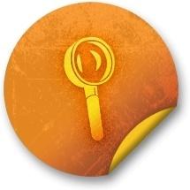 Orange sticker badges 184