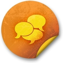 Orange sticker badges 212
