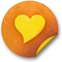 Orange sticker badges 221