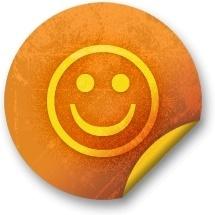 Orange sticker badges 274