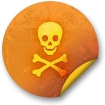 Orange sticker badges 283