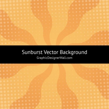 orange sunburst vector background