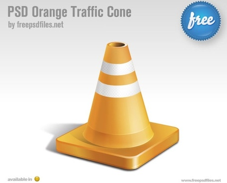 orange traffic conepsd layered