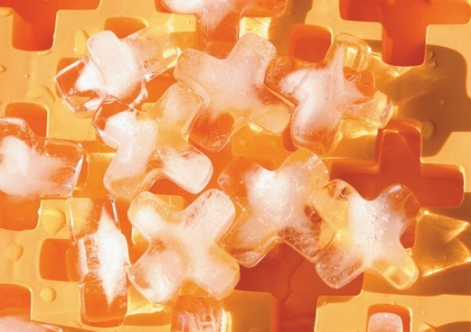 orange xshaped ice highdefinition picture