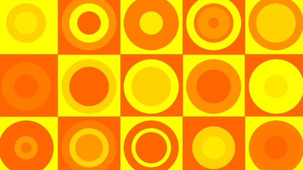 orangeyellow retro background