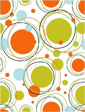 Orbits - seamless pattern