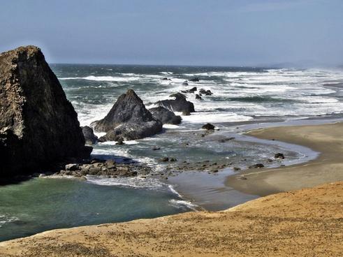 oregon coast shoreline