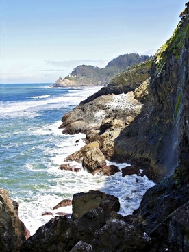 oregon usa coastal line