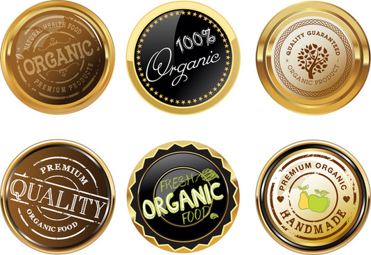 organic badge design templates