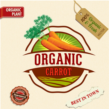 organic carrot sale badge
