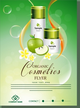 organic cosmetic flyer apple cream product ornament