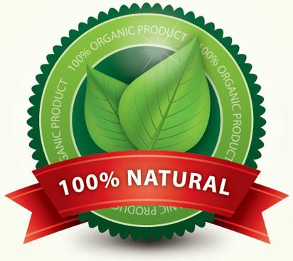 organic label vector graphic