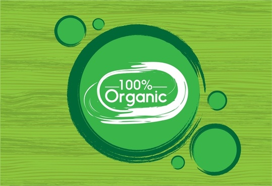 organic logo design circles style on wooden background