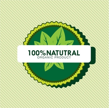 organic product logo design leaf icons in green