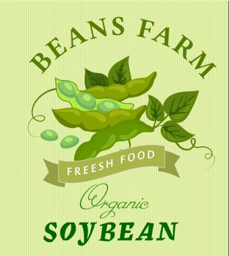 organic soybean advertisement green symbol decoration