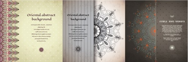 oriental abstract background vector
