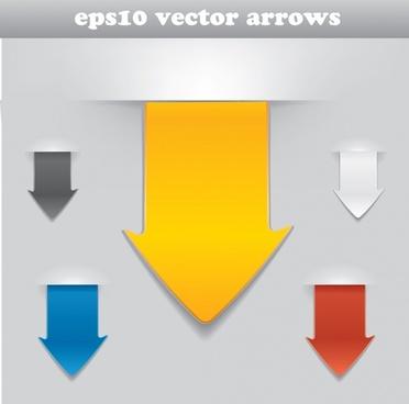 decorative arrows templates colored modern 3d edge design