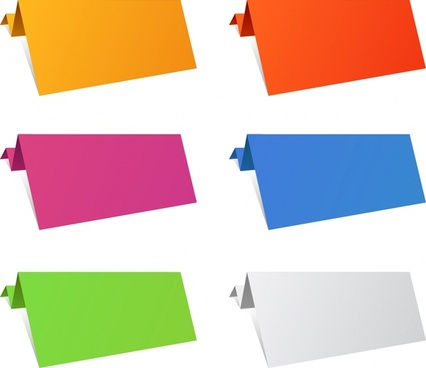 origami paper templates modern colored plain 3d sketch