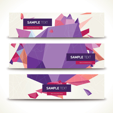origami geometric shapes vector banner