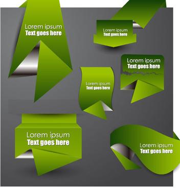 origami paper design elements vector part 2