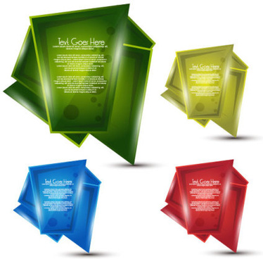 origami paper design elements vector part 4