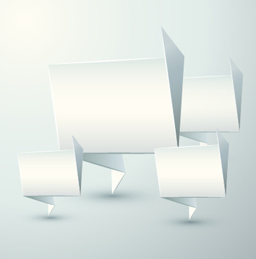 origami speech bubble vector graphics
