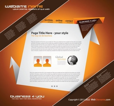 origami website design 02 vector