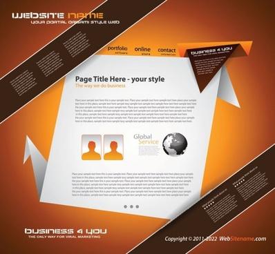origami website design 02 vector
