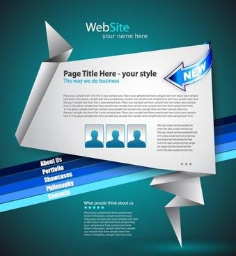 origami website design 04 vector