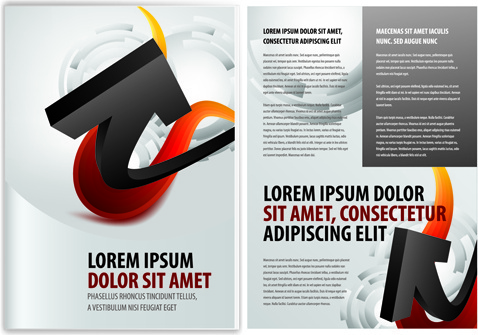 original business brochure cover vector