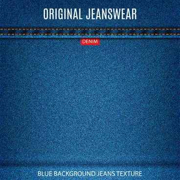 original denim blue texture background vector