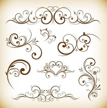 ornament desgin elements vector illustration