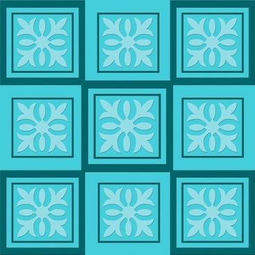 ornament design in bluegreen