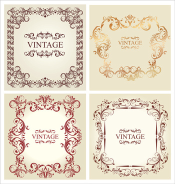ornament frames vintage style vector