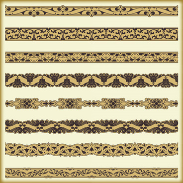 ornament pattern borders vector