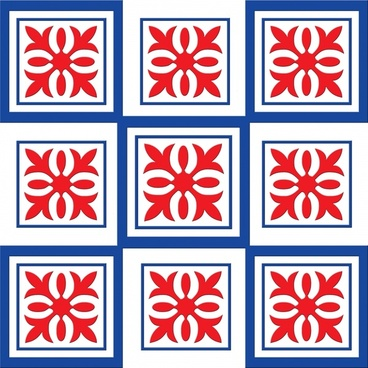 ornament red white and blue