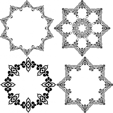 ornamental circles design with various classical shaped frame