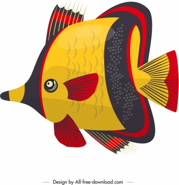 ornamental fish painting colorful flat design