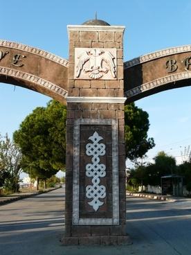 ornaments archway oriental