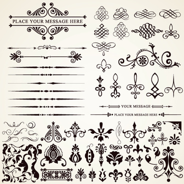 ornaments elements vector border graphic