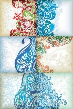 ornaments pattern floral background vector