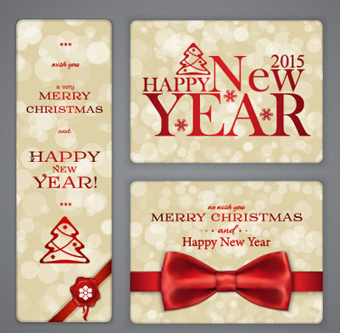 ornate15 christmas with new year cards vector