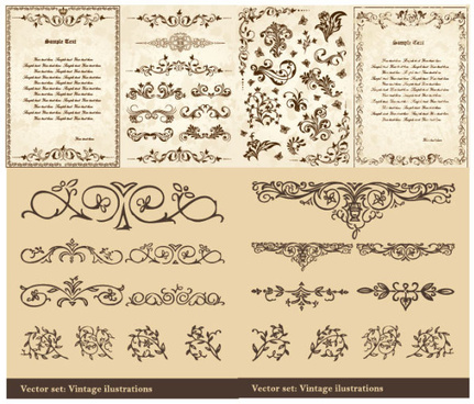 ornate antique floral vector