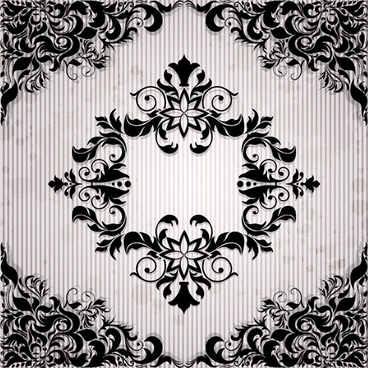 ornate black floral pattern background art