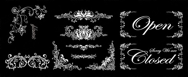ornate border corner floral vector